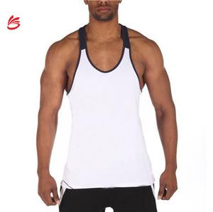 e5f7acccfd201 2018 Custom 100% cotton wholesale men fitness plain gym tank tops singlets  stringer