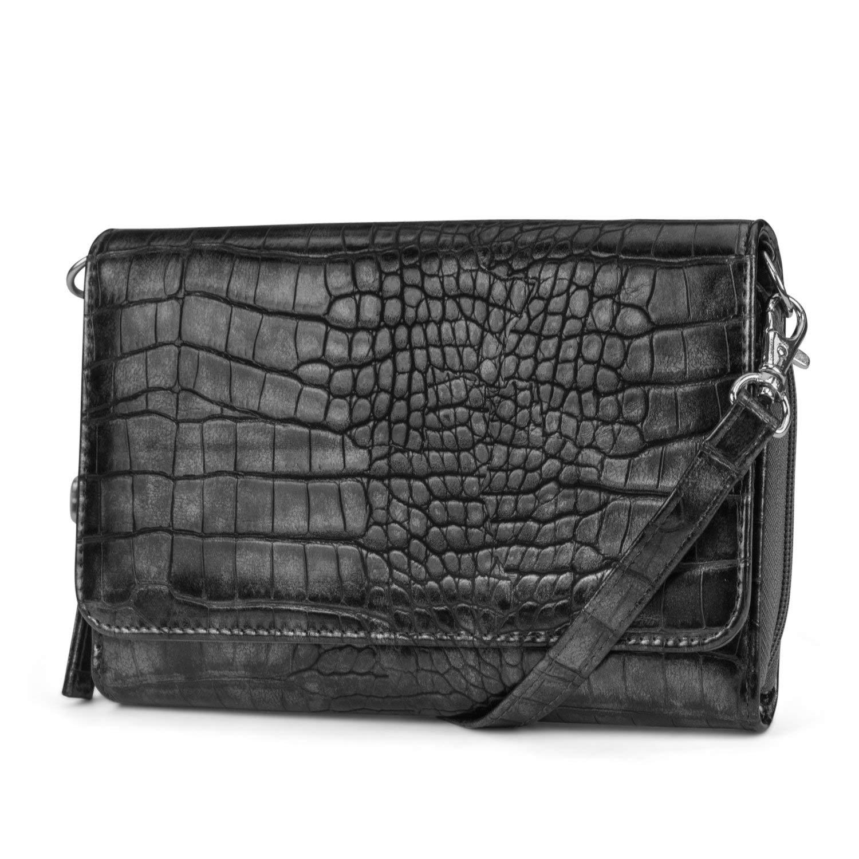 43a15bb31c Get Quotations · Mundi RFID Crossbody Bag For Women Anti Theft Travel Purse  Handbag Wallet Vegan Leather