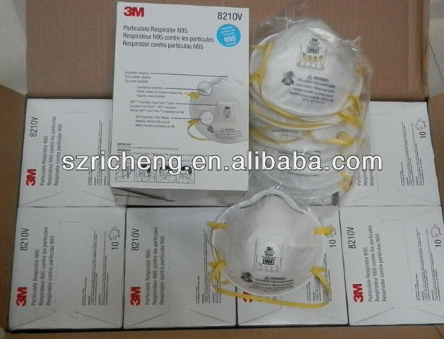 3M 8210 mask with valve 3M Particulate Respirator Dust respirator 8210V