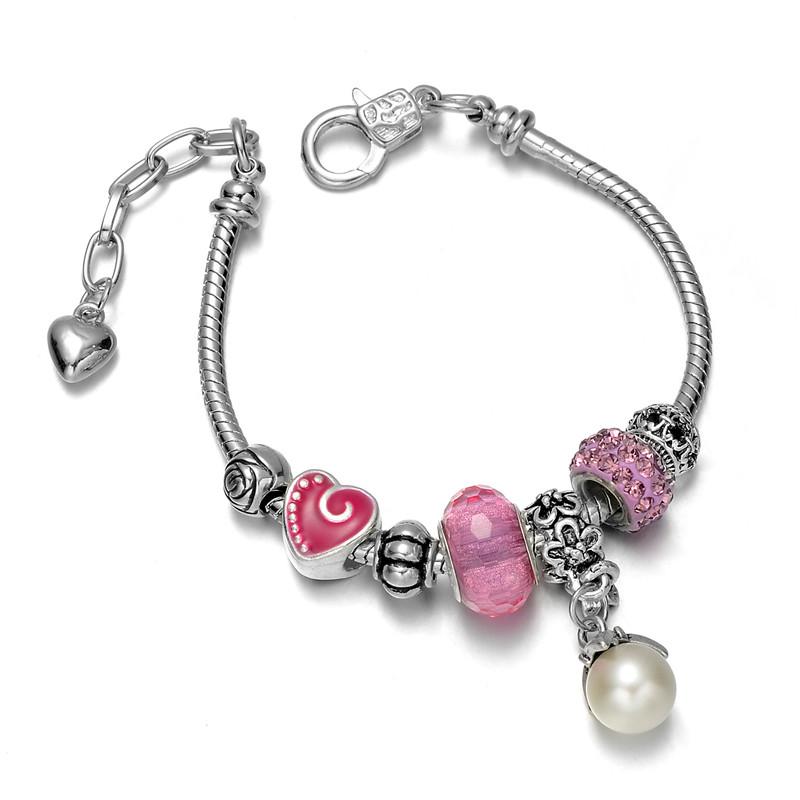 3a7e6683b36c Pulsera De Cuero Rosa Pandora