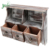 Rustic Wooden 2 Slot Office Desk or Wall Mounted Hanging storage box With 3 Drawers