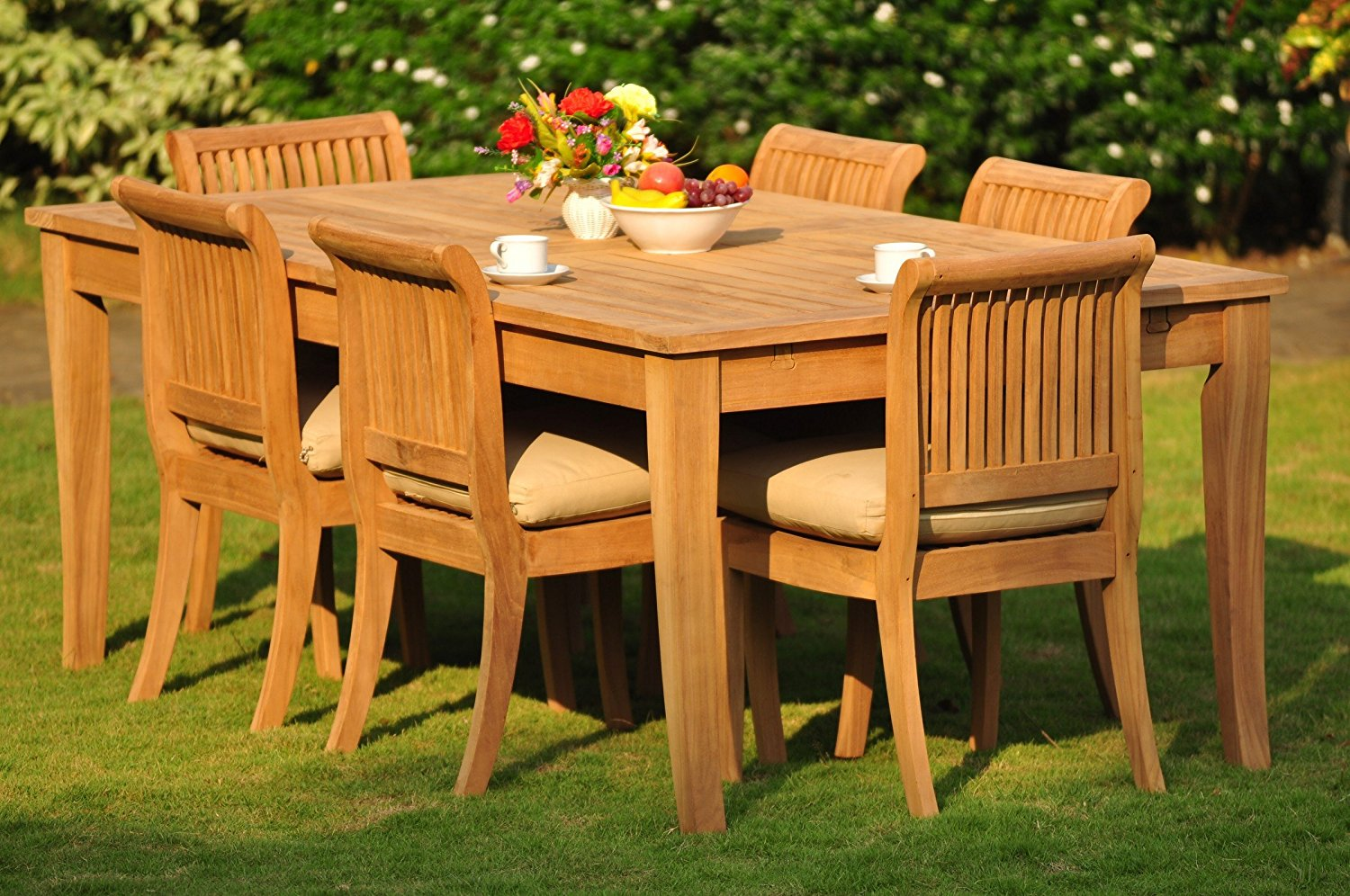Buy Grade A Teak Wood Dining Set 6 Seater 7 Pc Large Atnas 122 Dining Rectangle Table Table And 6 Giva Armless Chairs Wfdsgv50 In Cheap Price On Alibaba Com