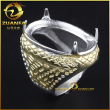 cheap wholesale large titanium rings for gemstone