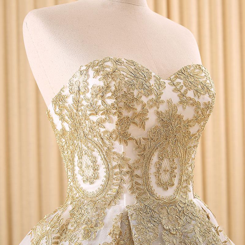 RSM66120 barato al por mayor de oro encaje vestido de fiesta chica ...