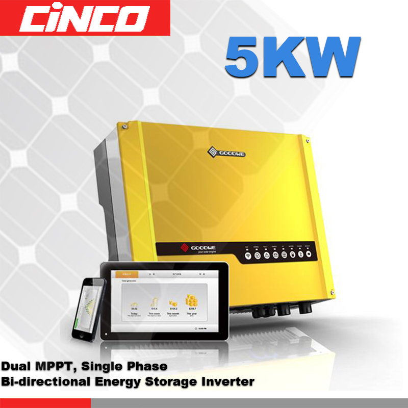 5KW on/off-grid hybrid solar power inverter,power inverter connected grid tied sell electricity battery storage 5year warranty