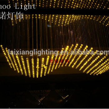 2019 China Yeenoo luxury color changeable hanging long chandelier,led fiber optic light ball with K9 crystals