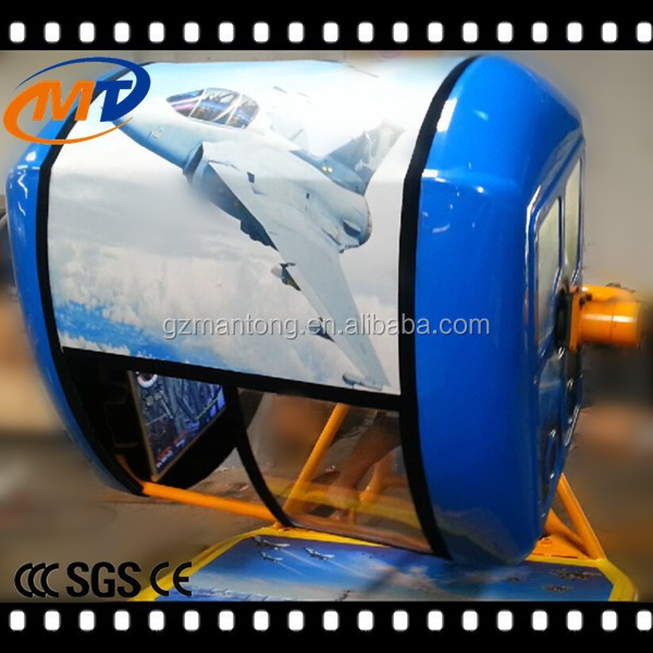 2015 Amusement Park Equipment 5D 7D 9D Cinema 360 Degree Flight Simulator with Flight Game and Car Game
