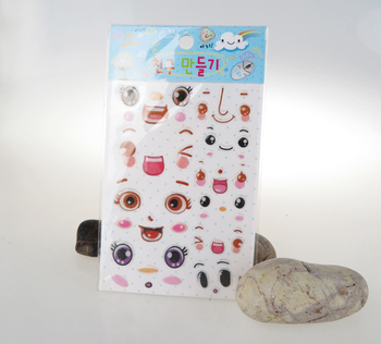 Customized Emoji Cartoon Epoxy Sticker for Kids Girls