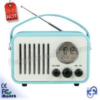 Micro Usb/fm Radio Speaker Music Player Portable Retro Clock Radio ...