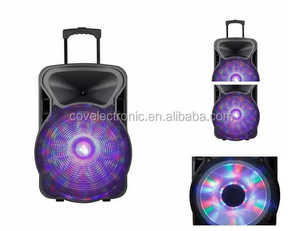 COV speaker cheap protable battery powered trolley speaker 15 inch