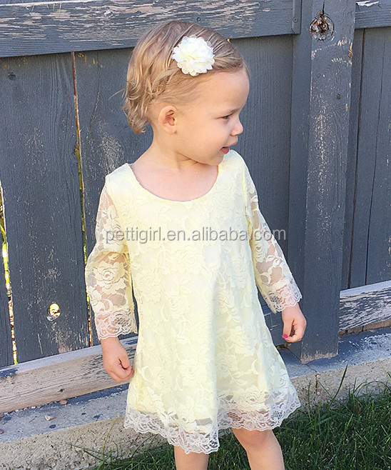 New Summer Baby Dresses With Ivory Victorian Lace Sheath Dress Girls Lace Dress Child Clothing NP-G-GD905-45