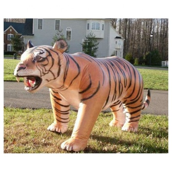 Giant vivid decorative inflatable saber-toothed tiger model for outdoor display