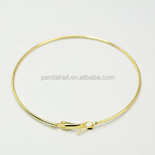 PandaHall 49mm Diameter Big Gold Iron Hoop Earring Findings Earring Hoops for Jewelry Making, Golden color