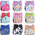 Eva Simple Life Reusable Waterproof Bamboo Charcoal One Size Pocket Cloth Diaper Double Gussets Color