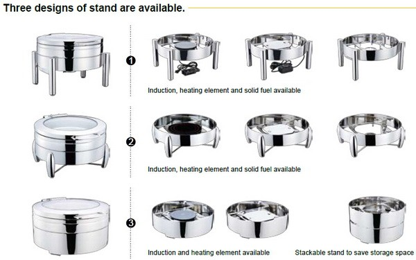 GW-232A/3F 6L New Products Latest cold display chafing dish