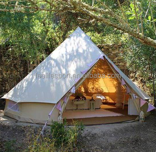 100% cotton canvas luxury bell tent 5m safari glamping bell tent 5m