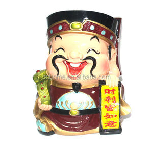 Polyresin Gifts/Polyresin Crafts with Chinese of God of Wealth doll set for souvenir