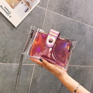 2018 New Clear transparent bags for women Brand Mini Small Shoulder Bag Jelly Chain women messenger bags Summer Fashion Handbags