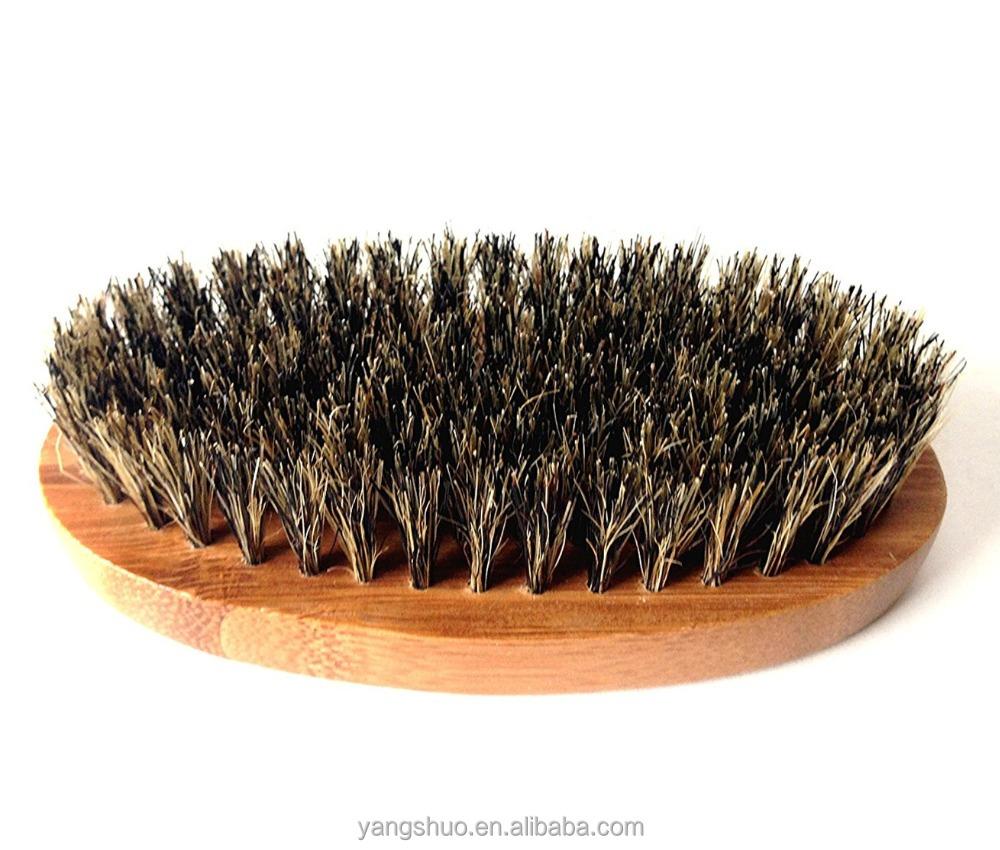 100% Boar Hair Bristle beard brush wholesale, Natural bamboo
