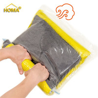 New design space saver hand roll vacuum bag for travel