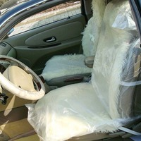China manufacturer disposable pe car seat cover plastic car seat cover