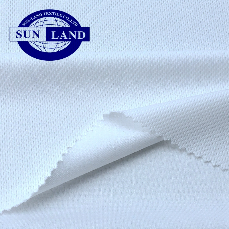white stock for sale 100% polyester sports wear clothing weft knitted bird eyes no hole mesh fabric