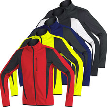 Homme manches longues <span class=keywords><strong>vélo</strong></span> cyclisme Softshell Veste