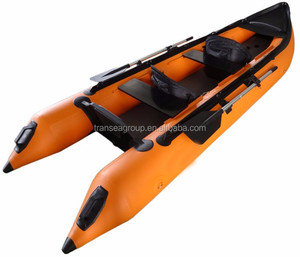 4.5m chinese fishing kayak inflatable boats fishing canoe for sale