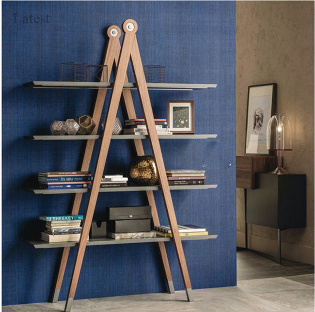 Space saving tree shaped bookshelf school floating bookshelf