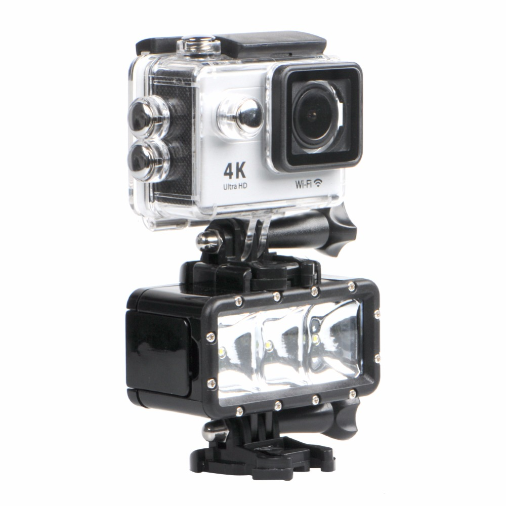 35m Diving Waterproof LED Flash Fill Light ForGoPro 5 4 Xiaoyi mi Action Camera DSLR