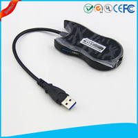 Gigabit Ethernet Network +USB 3.0 Hub 3-port Cable LAN Adapter