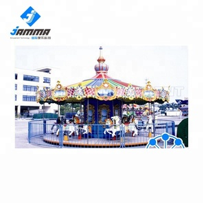 Outdoor amusement equipment amusement park rides luxury kids carousel for sale