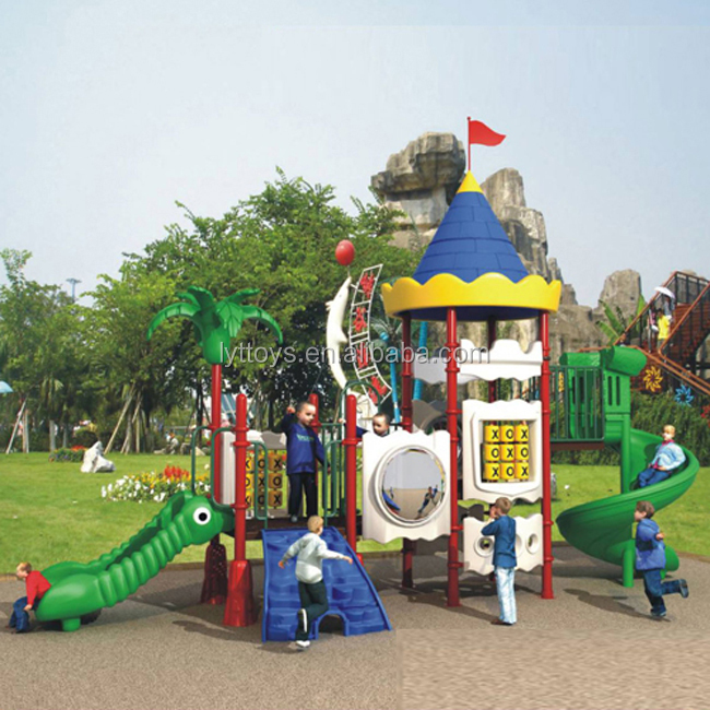 Used backyard kids playground large plastic water slide for sale