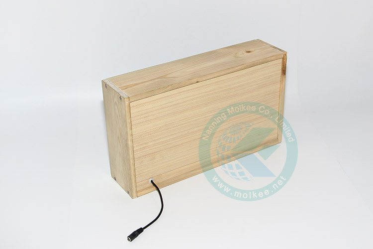Led Lighting Box Brand Display Wooden