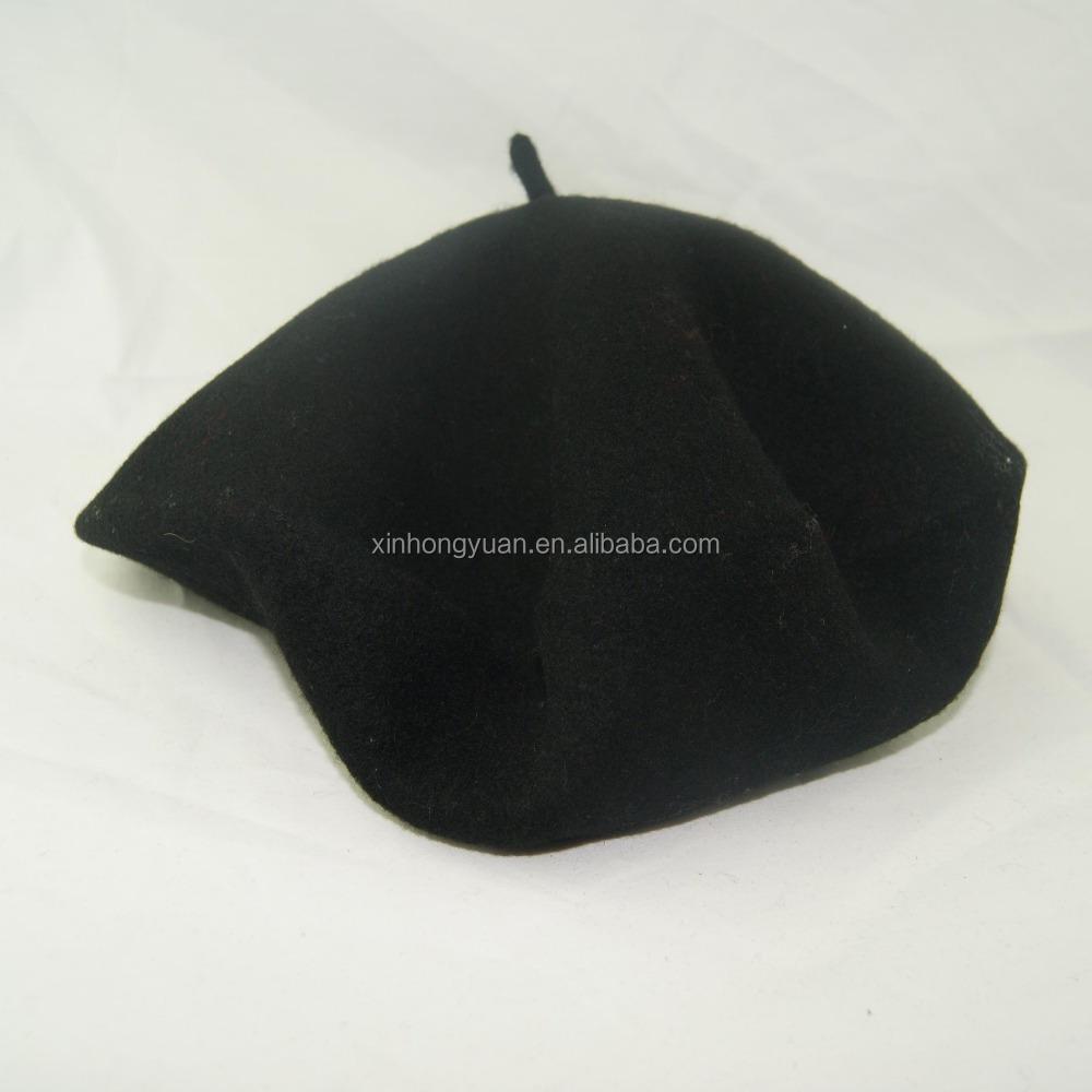 Wool Felt Army Military Beret Cap/hat For Men In Black Color - Buy Wool  Felt Army Military Beret,Military Beret Cap/hat For Men,Wool Felt Beret In