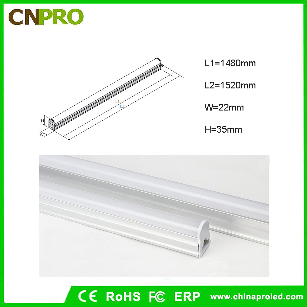 North America most popular Supermarket led lighting high quality 120lm/w t5 led tube replace 28w 1200mm with 5000K daylight