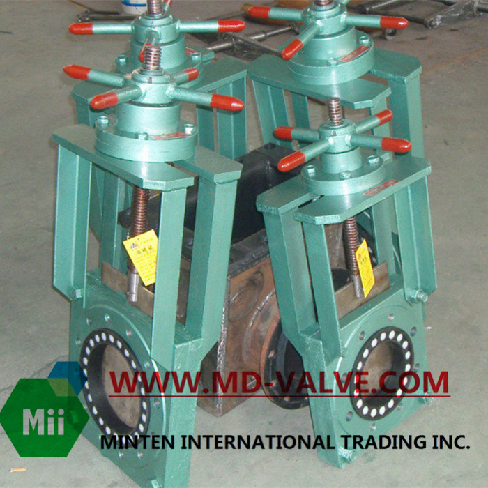 handwheel knife gate valve can realize the site or remote operation, the centralized control