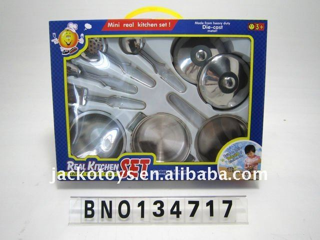 Children kitchen play set,Stainless steel cooking toys