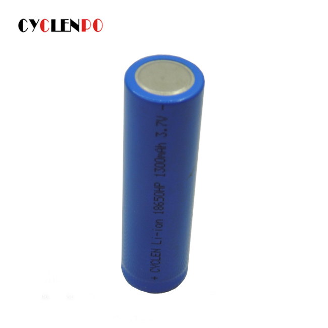 High energy density 18650 3.7v 1300mah lithum Rechargeable battery for electronic