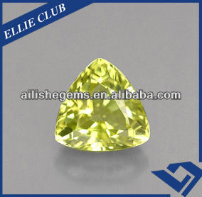 excellent quality trilliant cutting triangle shape korea machine made CZ semi precious stones for arts and gift