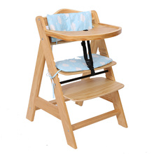 Durable Portable Convenient Standard Feeding Solid Wood Baby Dining High Chair Wooden With Tray For Baby
