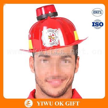 Plastica Casco Pompiere Cappello Con Led Rosso Lampeggiante 87fc1d38a04f