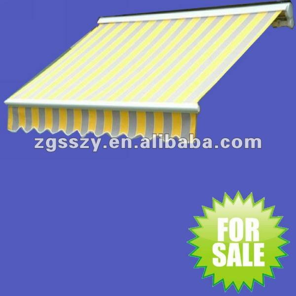 Outdoor Retractable Fabric Poly carbonate Awning