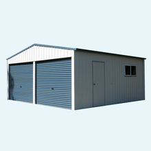 Steel Metal 2-Car Garage Building workshop barn shed prefab storage