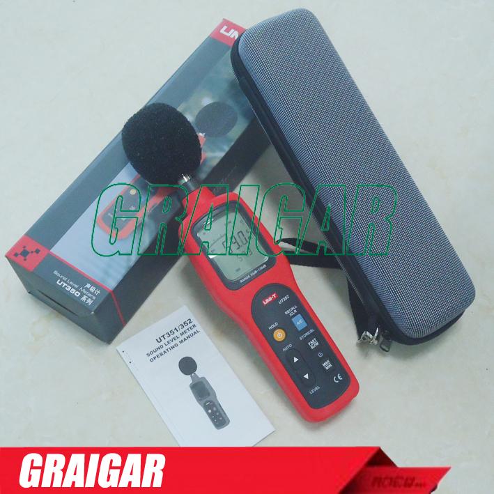 Uni-t Ut352 Digital Sound Level Meter Decibel Meter Noise Tester Lcd  Backlight - Buy Sound Level Meters,Digital Db Meter,Enviromental Noise Test