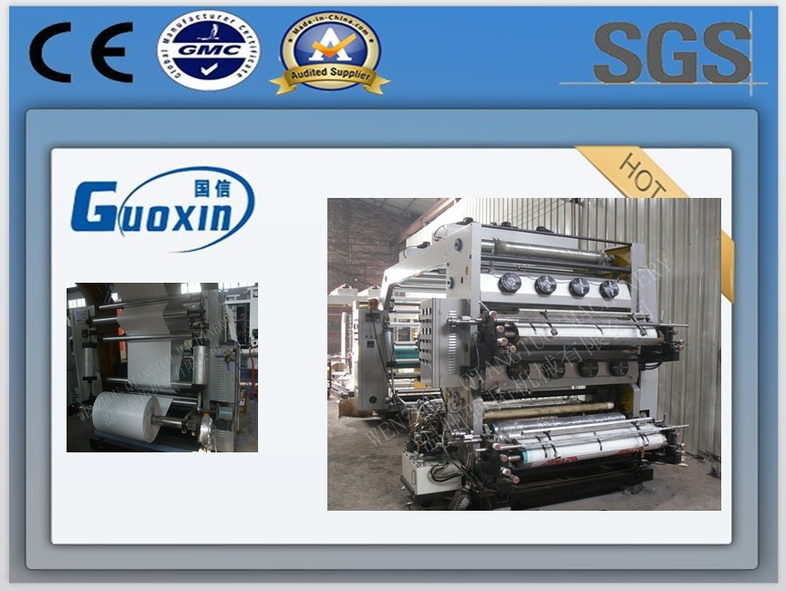 100 m/min 4 color 1000 mm high speed flexographic printing machine