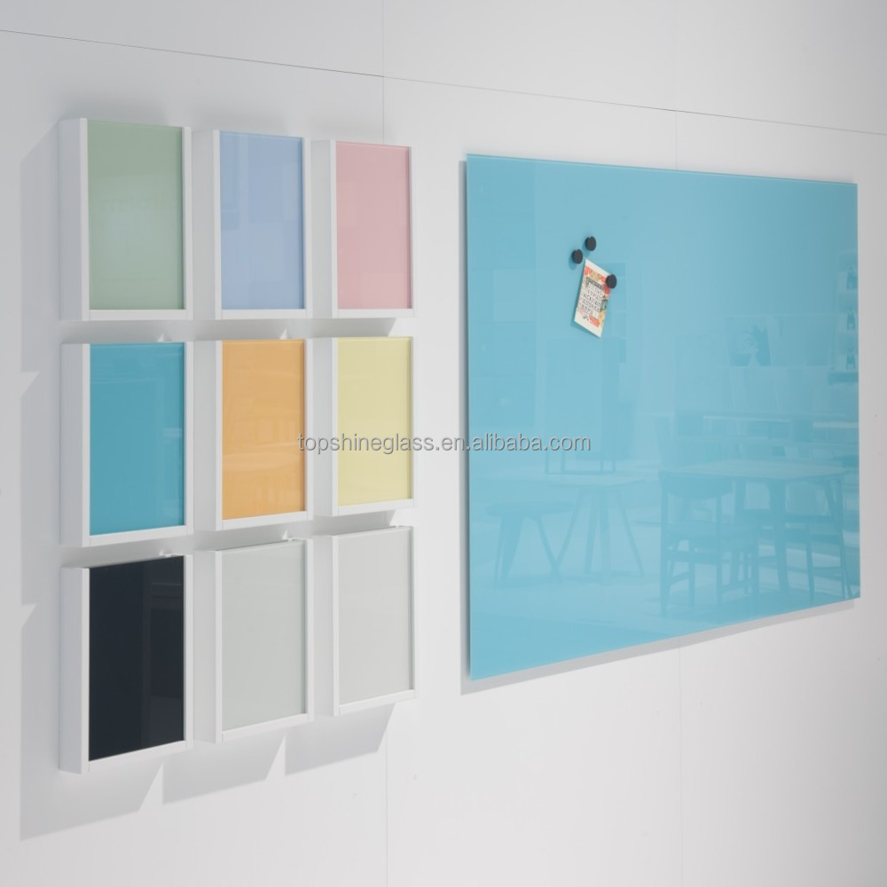 6mm magntic tempered glass writing whiteboard
