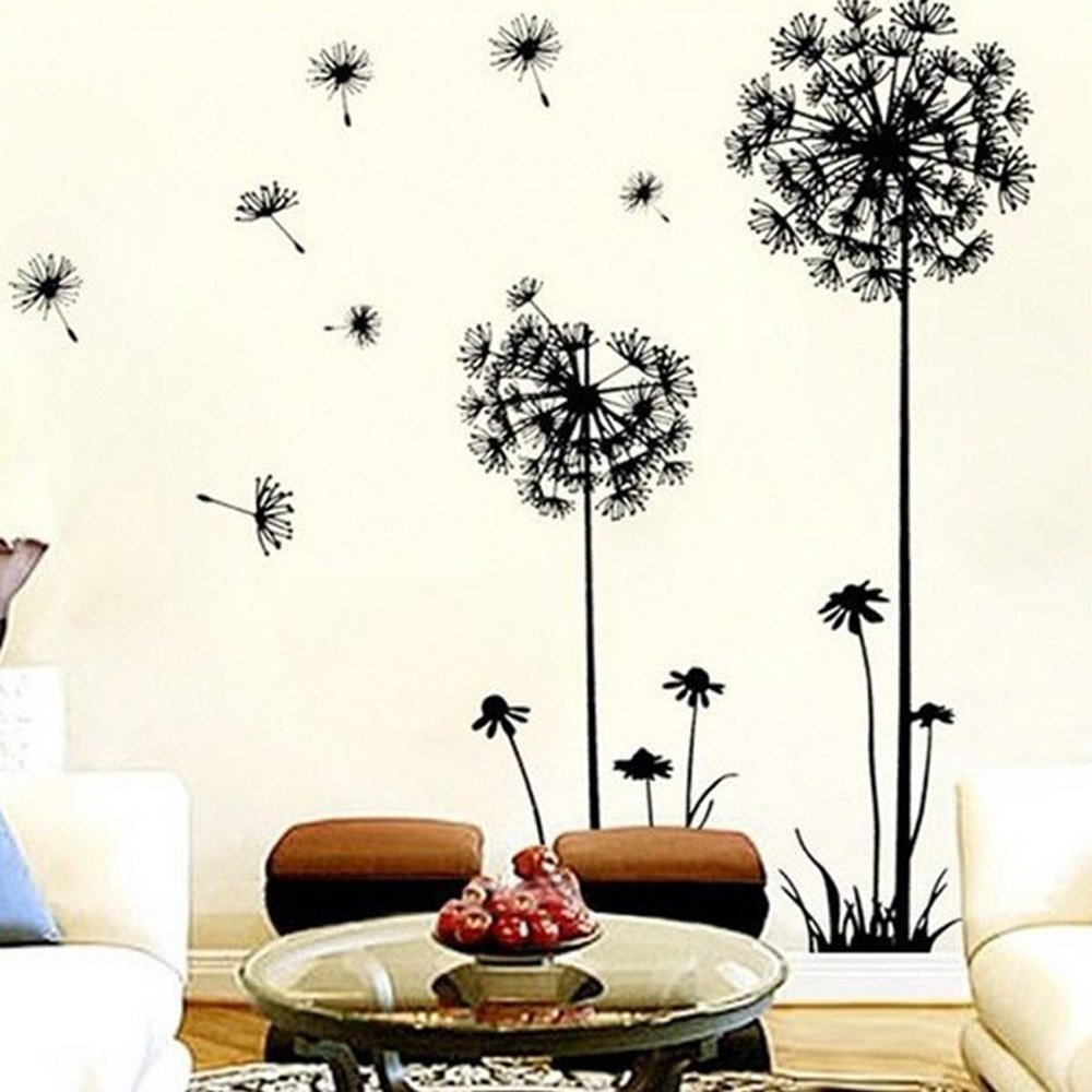 Coromose Creative Dandelion Removable Mural PVC Wall Art Decal Sticker