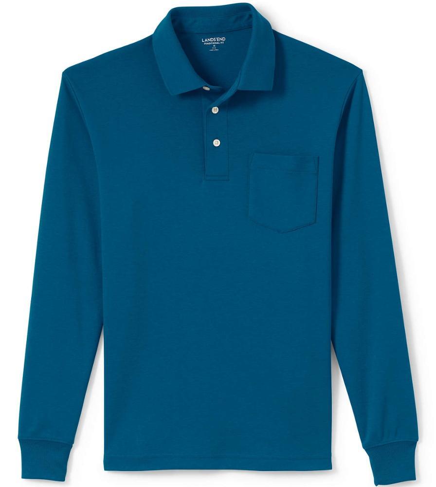 Offre Spéciale 100% coton à manches longues hommes polo chemise avec poche sport polo