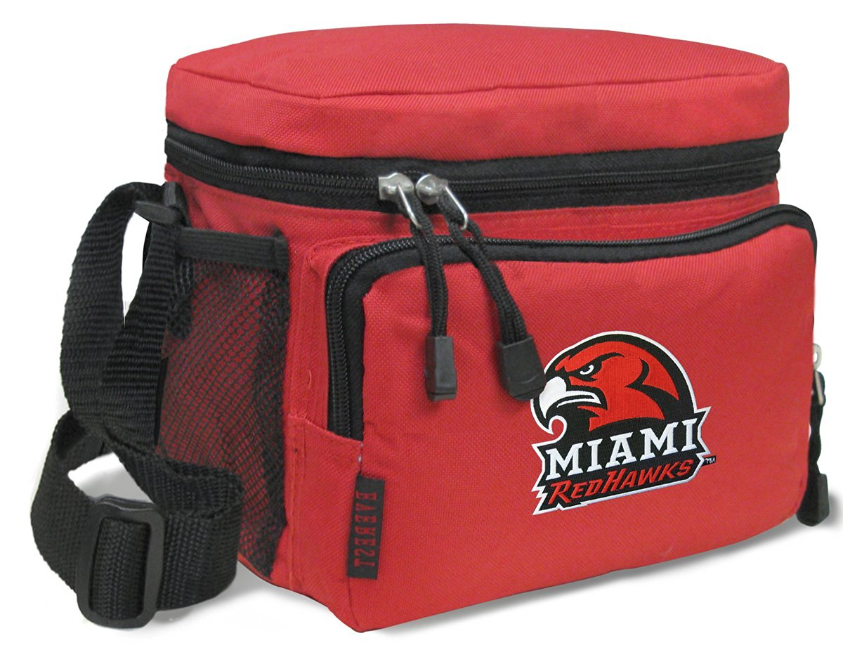 Miami RedHawks Lunch Bags NCAA Miami University Lunch Boxes